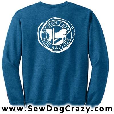 Agility Bichon Frise Sweatshirt