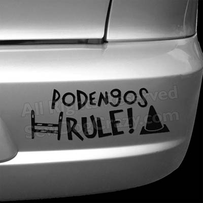 Portuguese Podengo Dog Sports Bumper Stickers