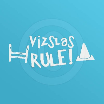 Vizslas Rule Dog Sports Decal