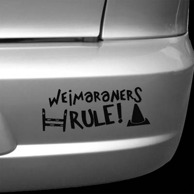 Weimaraner Agility Rally-O Vinyl Sticker