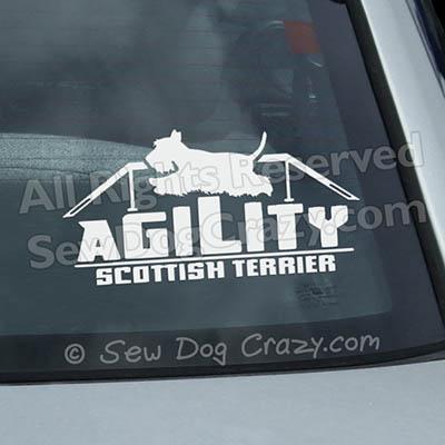 Scottish Terrier Agility Dog Walk Window Decals