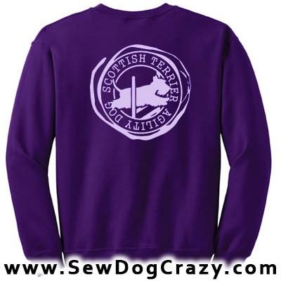 Scottish Terrier Agility Sweatshirts