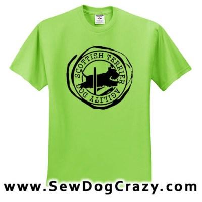Scottish Terrier Agility Tshirts