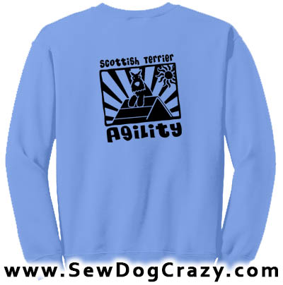 Scottish Terrier Agility A-Frame Sweatshirt