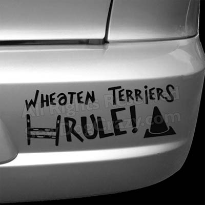 Wheaten Terriers Rule Dog Sports Bumper Stickers