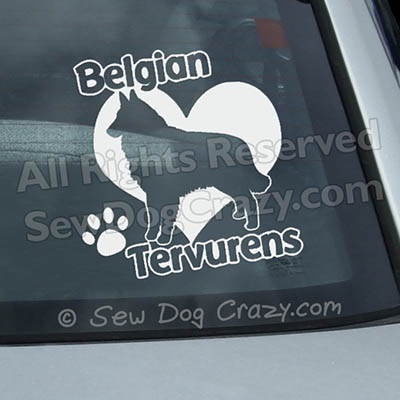 Love Tervurens Window Stickers