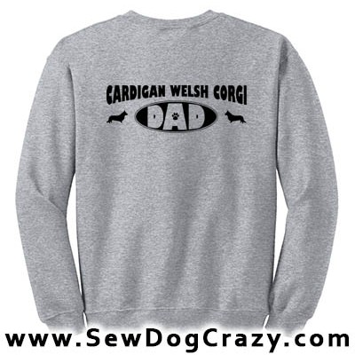 Cardigan Welsh Corgi Dad Sweatshirts