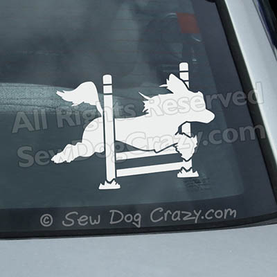 Hairless Chinese Crested Agility Car Window Stickers