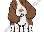 Cartoon English Springer Spaniel Embroidery