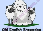 Old English Sheepdog Embroidered Apparel