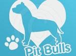 I Love Pit Bulls Vinyl stickers