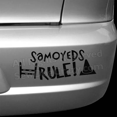 Samoyeds Rule Dog Sports Bumper Sticker