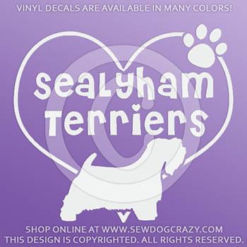 Heart Sealyham Terriers Vinyl Stickers
