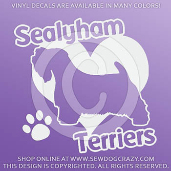 Vinyl Love Sealyham Terriers Decals