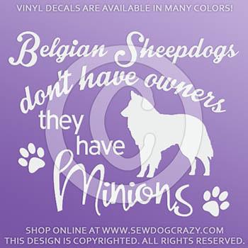 Funny Belgian Sheepdog Decals