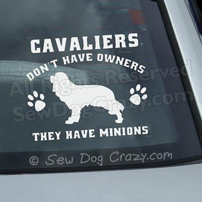 Cavalier Spaniel Car Window Stickers