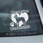 Love Lundehunds Car Window Stickers