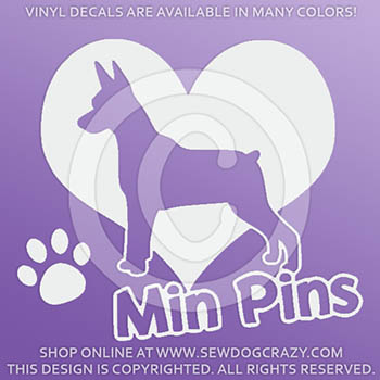 Vinyl Miniature Pinscher Stickers