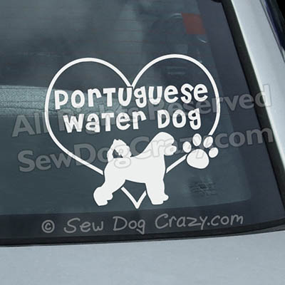 Love Portuguese Water Dog Decal