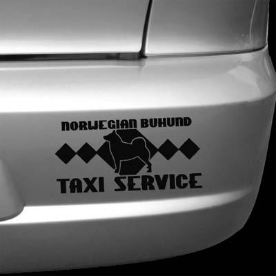 Norwegian Buhund Taxi Sticker