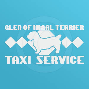 Glen of Imaal Terrier Taxi Decal