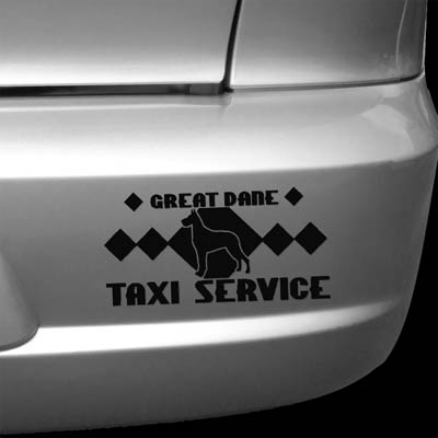 Great Dane Taxi Decal