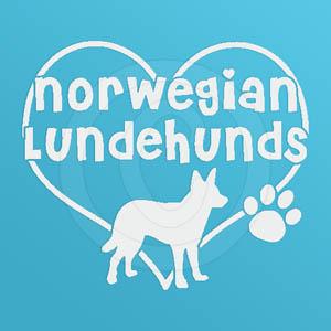 I Love Norwegian Lundehunds Decals
