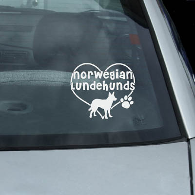 I Love Norwegian Lundehunds Decal