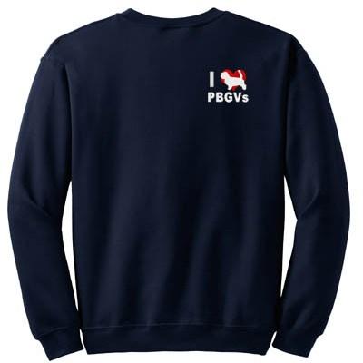 I Love PBGVs embroidered Sweatshirt