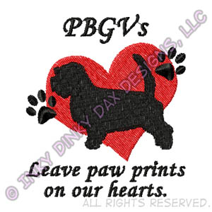PBGVs Leave Paw Prints On Our Hearts Embroidery