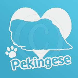I Love Pekingese Decals