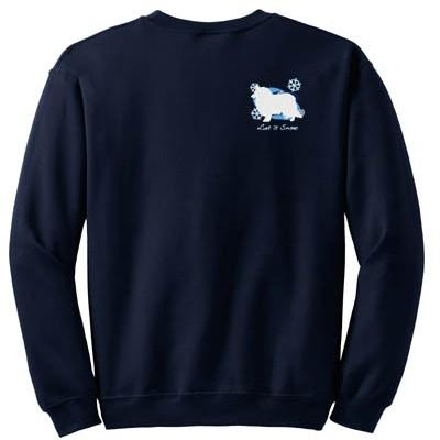 Pretty Snowflake Rough Collie Embroidered Sweatshirt