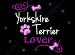 Pretty Yorkshire Terrier Embroidered T-shirt
