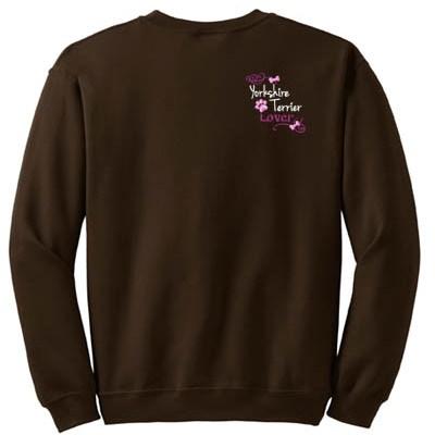 Pretty Embroidered Yorkshire Terrier Sweatshirt
