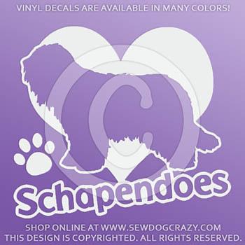 Love Schapendoes Car Decals