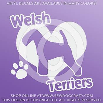 Love Welsh Terrier Decals