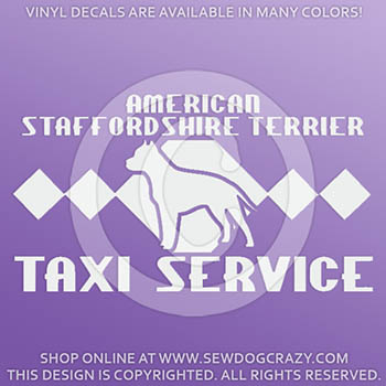 AmStaff Taxi Sticker