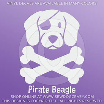 Vinyl Pirate Beagle Decals