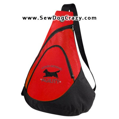 Embroidered Agility Golden Bag