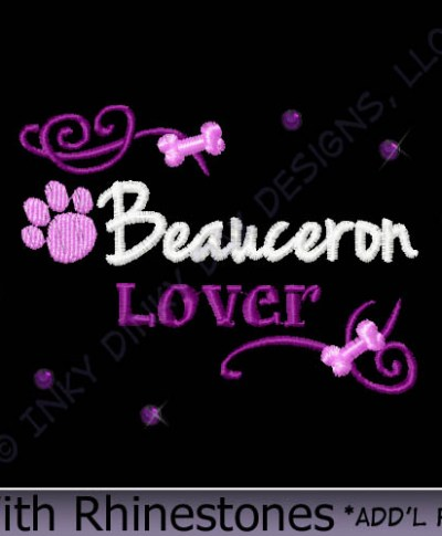 Beauceron Rhinestones Apparel