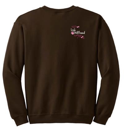 Pretty Irish Wolfhound Embroidered Sweatshirt