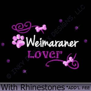 Weimaraner Rhinestones Apparel