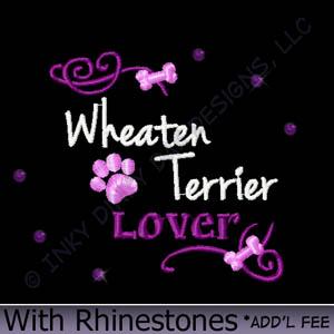 Rhinestones Wheaten Terrier Apparel
