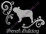 Pretty French Bulldog Apparel Embroidery