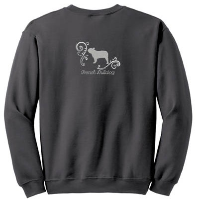 Rhinestones Embroidered French Bulldog Sweatshirt