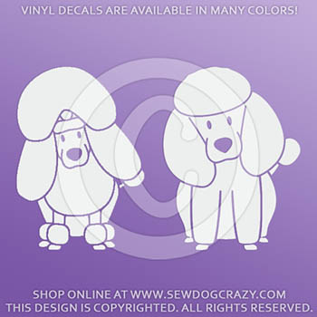 Cartoon Poodle Car Sticker
