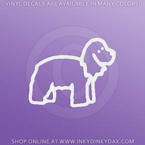 Cocker Spaniel Stick Figure Dog Stickers