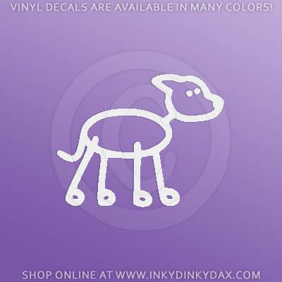 Greyhound Stick Figure Car Stickers