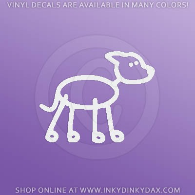 Greyhound Stick Figure Car Stickers