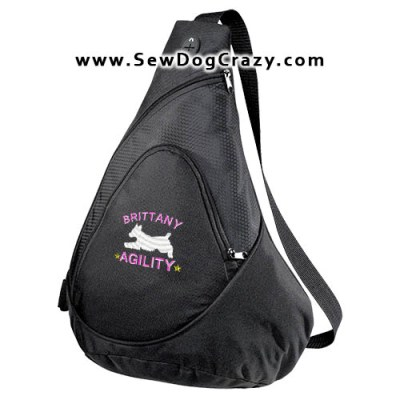 Embroidered Brittany Agility Bags